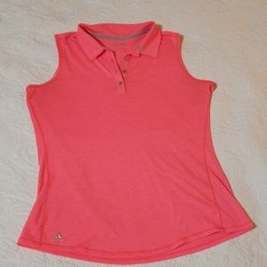 Coral & Gray Adidas Sleeveless Golf Shirt sz M